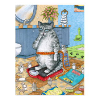 Cat 579 postcard
