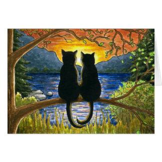 Cat 582 black cats card