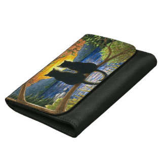 Cat 582 black cats leather wallets