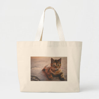 Cat-5 Large Tote Bag