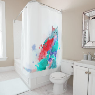 Cat 609 shower curtain