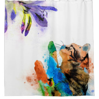 Cat 610 shower curtain