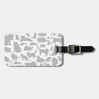 Cat a background bag tag