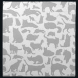 "Cat a background napkin<br><div class=""desc"">Background made of cats. A vector illustration</div>"