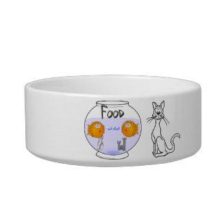 """Cat-A-Copia Custom """"Cat Food"""" Bowl"""