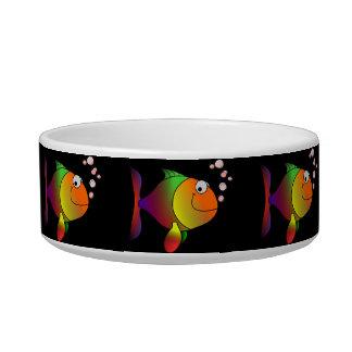 """Cat-A-Copia Custom """"Happy Fishies"""" Cat Bowl"""