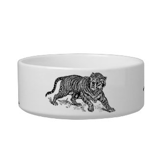 """Cat-A-Copia Custom """"How The Housecat Sees Herself"""" Bowl"""