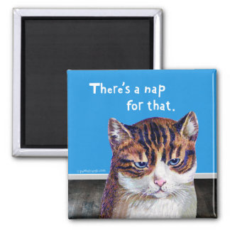 """Cat """"A Nap For That"""" Magnets"""