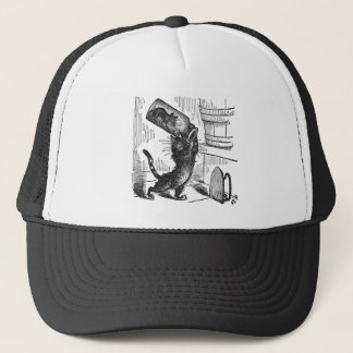 Cat About to Smash Bottle with Mouse In It Trucker Hat
