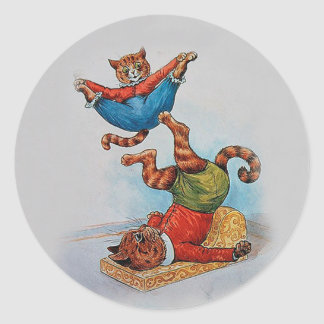 Cat Acrobats - The Art of Louis Wain Classic Round Sticker