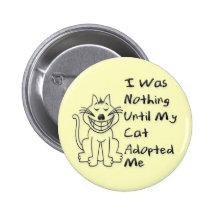 Cat Adoption Pinback Buttons