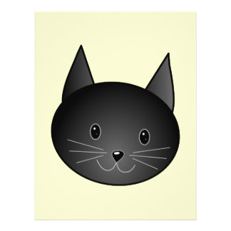 Cat. Adorable black kitty. Full Color Flyer