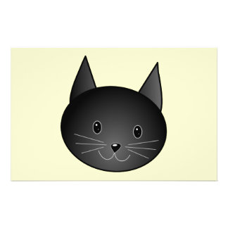 Cat. Adorable black kitty. Personalized Flyer