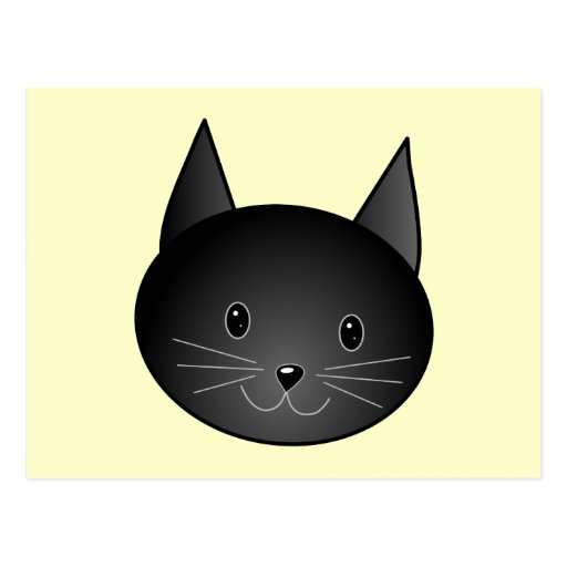 Cat. Adorable black kitty. Postcards