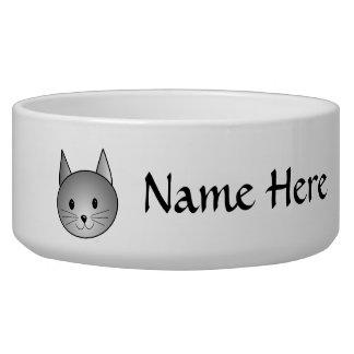 Cat. Adorable Gray Kitty Design. Bowl