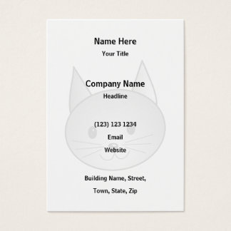Cat. Adorable Gray Kitty Design. Business Card