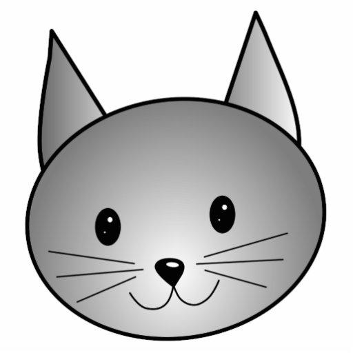 Cat. Adorable Gray Kitty Design. Photo Sculpture Ornament