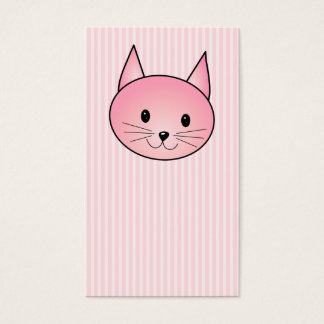 Cat. Adorable pretty pink kitty. Business Card