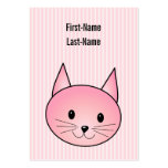 Cat. Adorable pretty pink kitty. Large Business Cards (Pack Of 100)
