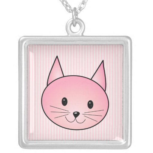 Cat. Adorable pretty pink kitty. Custom Jewelry