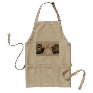 cat adult apron