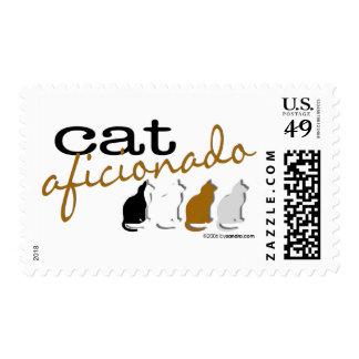 Cat Aficionado Postage Stamp