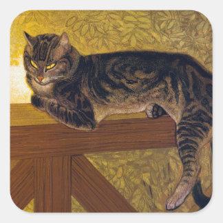 Cat, Alexandre Steinlen Square Sticker