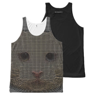Cat All-Over Print Tank Top