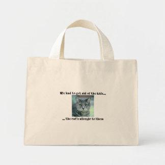 cat allergic mini tote bag
