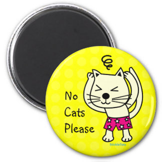 Cat Allergy 2 Inch Round Magnet