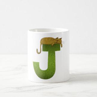 Cat Alphabet J Mug