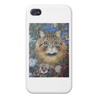 Cat Among the Flowers Louis Wain Artwork iPhone 4 Case