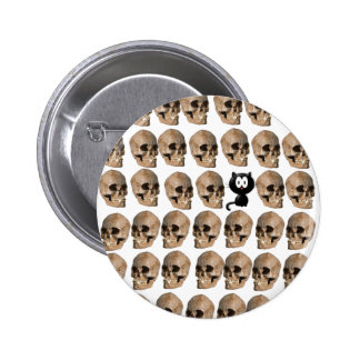 Cat Amongst The Skulls 2 Inch Round Button