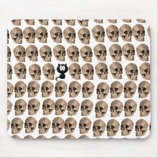 Cat Amongst The Skulls Mouse Pad