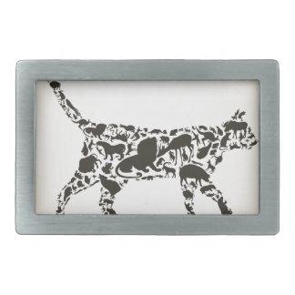 Cat an animal rectangular belt buckle