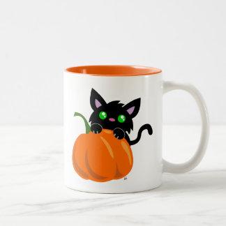 Cat and a Pumpkin Coffee Mug