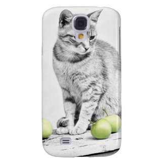 Cat and Apples Galaxy S4 Case