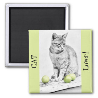 Cat and Apples Magnet
