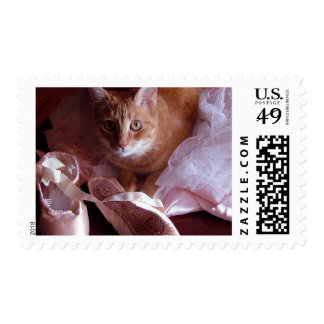 Cat and Ballet Slippers Postage