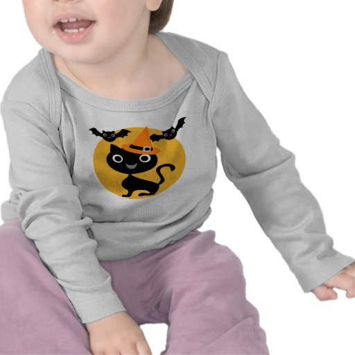 Cat and Bats Halloween T-shirts and Gifts