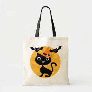 Cat and Bats Halloween T-shirts and Gifts Tote Bag