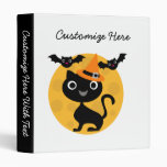 Cat and Bats Halloween T-shirts and Gifts 3 Ring Binder