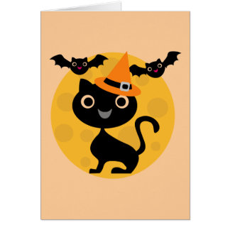 Cat and Bats Halloween T-shirts and Gifts Cards