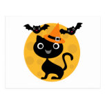 Cat and Bats Halloween T-shirts and Gifts Postcards