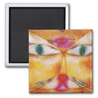 Cat and Bird - Abstract Art - Paul Klee Magnet