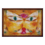 Cat and Bird - Abstract Art Poster Print