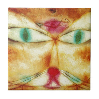 Cat and Bird by Paul Klee Tile