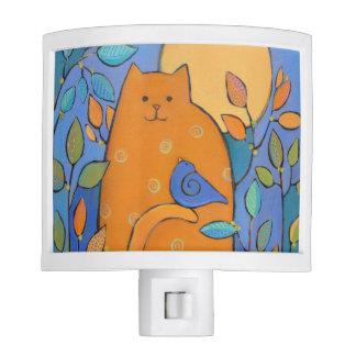 Cat and Bird Nite Light