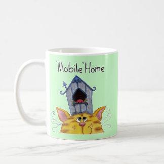 Cat and Bird House mobile home Coffee Mug