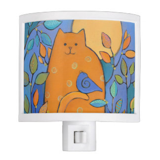 Cat and Bird Night Light